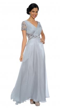 8439-blush - Sleeveless Floor-Length Dress by Terr