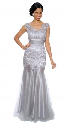 8443-silver - Sleeveless Floor-Length Dress by Ter