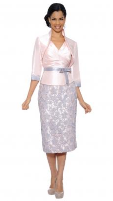 8463-blush-grey - Sleeveless Floor-Length Dress by